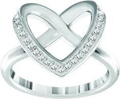 94bc9d5e8 Swarovski Crystal Cupidon Ring - clear crystal rhodium plated. Featuring a  unique knot design –