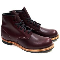 STYLE NO. 9011 : BECKMAN ROUND Part of the Beckman collection, the 9011 is a 6-Inch, round toe style boot made from our exclusive Black Cherry Featherstone dress leather. Classic in look, a bit of pol