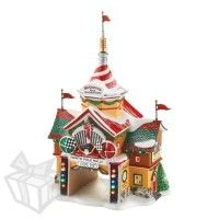 "Department 56 - North Pole - Cars Holiday Detail Shop ""Car's North Pole Rally Center""  #4023616"