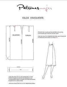 Trazado de faldas: Patrones | Aprender manualidades es facilisimo.com