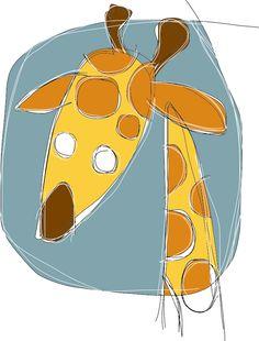 Giraffa gialla - ideAZIONIvettoriali