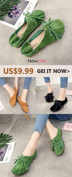 38a52a3530f  ONLY US  9.99 Soft Leather Slip On Comfortable Lady Flat Loafers   springflats