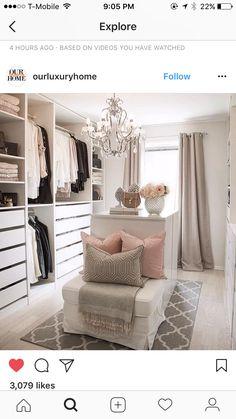 Kleiderschrank ideen Ideas for wardrobes # walk-in # wardrobe Walk In Closet Small, Walk In Closet Design, Bedroom Closet Design, Master Bedroom Closet, Closet Designs, Bathroom Closet, Build In Closet, Bedroom Turned Closet, Wardrobe Design