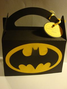 Batman FavorTreat Goddie boxesset of 12birthday by HappyToons, $24.00