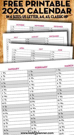 Freebie: Minimal Calendar 2021   Minimalistischer Kalender ...