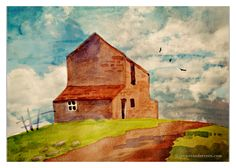 Watercolor Painting | Barn on a Hill Welcome to my wonderland, where even the barns whisper of stories untold. (Click on thumbnail for full-resolution image) A Peter Woolley exercise in watercolor …