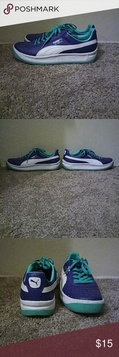Puma sneakers Practically new puma sneakers with both a dark and light shade of blue. Puma Shoes Sneakers
