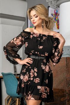 Cold Shoulder Dress, Dresses With Sleeves, Long Sleeve, Floral, Fashion, Outfits, Vestidos, Cute, Moda