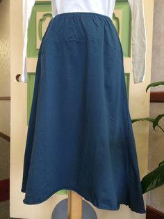 Raw Edge Skirt 100% Organic Cotton Skirt | green 3