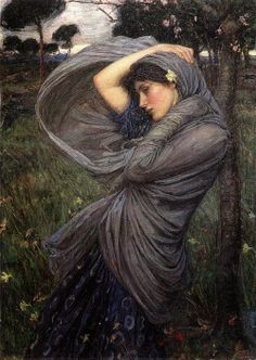 John William Waterhouse, Boreas, 1902Boreas is the North Wind, and this girl is his victim