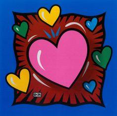 "The Art of Burton Morris Sept. More information about ""Poptastic! The Art of Burton Morris"" exhibit: Gifs Ideas, Art Ideas, Burton Morris, 3rd Grade Art, Fourth Grade, Valentines Art, Valentine Hearts, Heart Painting, Middle School Art"