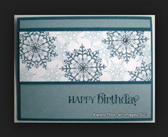 Stampin up Christmas birthday