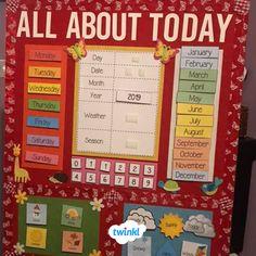 Eyfs Classroom, Classroom Calendar, School Calendar, Kids Calendar, Primary Classroom, Future Classroom, School Classroom, School Displays, English Classroom Displays