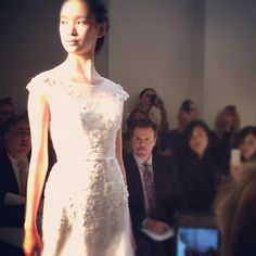 #christos gowns are always elegantly with intricate lace details. #bridalmarket