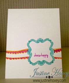 Justine's Cardmaking, Scrapbooking and Papercrafting: March CTMH Stamp of the Month Blog Hop: Choose Happy!