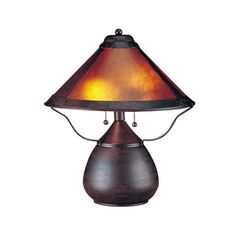 Cal Lighting Table Lamp with Mica Glass Shades BO-464 – SwallowTale