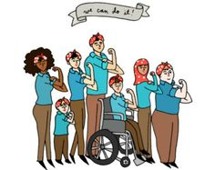 intersectionality images - women ableism We Can Do it