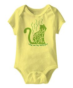 Take a look at this Banana 'Smelly Cat' Bodysuit - Infant by American Classics on #zulily today! ahhh this is awesome