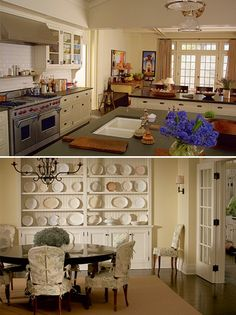 Something's Gotta Give kitchen & dining room ... the house from this movie is maybe my favorite house ever.
