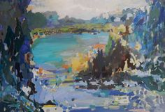 """'River Cruize' by   Donna Andreychuk, acrylic on canvas, 40""""x60"""""""