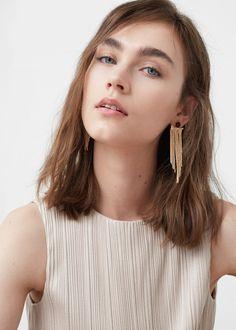 Multiple chain earrings | MANGO