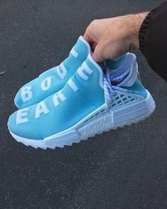 uk availability 1bcbc 3e5d4 Mens size Human Race Adidas HU Holi Blue   PW unauthorized shoes