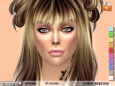 The Sims Resource: Cheek Piercing by MahoCreations • Sims 4 Downloads