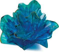 Dale Chihuly inspired art glass look alike using acetate like sheets
