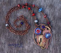 RESERVE Copper brass jewelry Lampwork beads Hot enamel