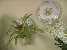 Create a wall sconce from old China dishes: Glue a small cup to the bottom of a plate with epoxy and insert a tea light candle. Or use a larger cup and set a potted plant inside: from the Decorating Cents archives @ HGTV.