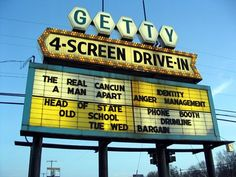 I love to go to the Getty 4 Screen Drive-In Theater in Muskegon, Michigan every summer!