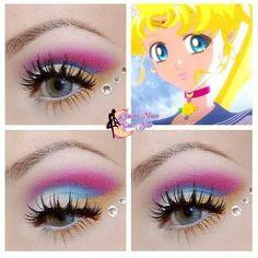 Sailor Moon Make-up - Microblading Sailor Moon Crystal, Sailor Moon Make-up, Sailor Moon Party, Sailor Moon Wedding, Sailor Moon Cosplay, Sailor Moon Nails, Sailor Jupiter, Makeup Goals, Makeup Inspo