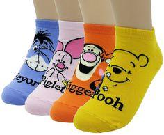 Disney Winne the Pooh and Friends Character Socks: Tigger, Eeyore, Pooh, Piglet Piglet Winnie The Pooh, Winnie The Pooh Nursery, Winne The Pooh, Winnie The Pooh Friends, Pooh Bear, Disney Winnie The Pooh, Eeyore, Tigger, Disney Cats