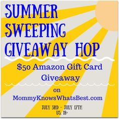 $50 Amazon Gift Card Giveaway- Summer Sweeping Giveaway Hop -Ends 7/17 #SummerSweeping