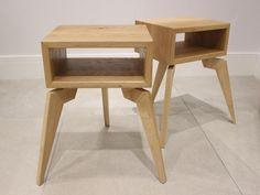 "bedside table nightstand ""Lucy's Alien"" from solid oak"