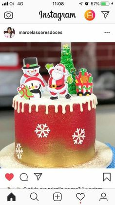Mini Christmas Cakes, Christmas Sweets, Christmas Desserts, Christmas Baking, Cake Lettering, Pastel Party, Drip Cakes, Themed Cakes, Party Cakes