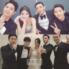 Song Joong-ki, Yoo Ah-in, Song Hye-kyo, Park Bo-geom all together in one image