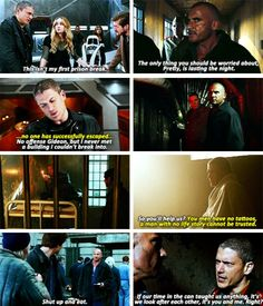 This isnt my first prison break Leonard and Mick ((Pris - So Funny Epic Fails Pictures Legends Of Tommorow, Dc Legends Of Tomorrow, Dc Movies, Movie Tv, Mick Rory, Rip Hunter, Leonard Snart, Dc Tv Shows, Fastest Man