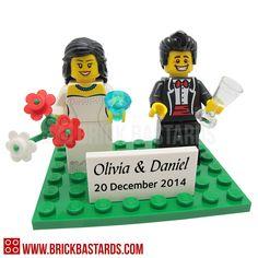 Brick Bastards Lego Minifigs_Bride and Groom