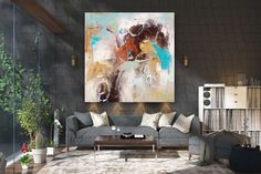 Items similar to Large Modern Wall Art Painting,Large Abstract wall art,texture art painting,abstract originals,bathroom wall art on Etsy Large Abstract Wall Art, Large Canvas Art, Large Painting, Painting Art, Textured Painting, Painting Abstract, Wall Canvas, Art Paintings, Bedroom Paintings