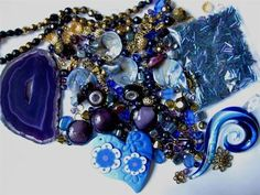 Did you know that we are donating 10% of every auction final sale price to IFAW (International Fund for Animal Welfare)? Bid now for some great beads and to help animals!  NEW 200+ Pcs. MIXED BEADS PENDANTS FINDINGS Royal Blue Purple Gold Glass Acrylic $16.99