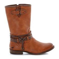 Boots zippées, avec brides et lacets noués