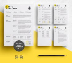 Professional Resume Template Design, Editable Resume for Office Admin or Marketing, Executive Resume Design with Cover Letter, Mac and PC Cv Template Word, Resume Design Template, Art Template, Design Templates, Microsoft Word, Icon Set, Adobe Illustrator, Adobe Cc, Free Resume Examples