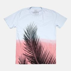 Quality Peoples T-Shirt Palm Dip-Dye Mens Morning Blue Rose Front