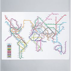 World Metro Subway Map Art Print