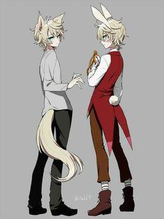 wolf anime boy anime rabbit boy- Google Search