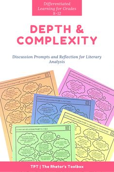No more lame discussions! Take your students' lit analysis discussions to a new level with Depth & Complexity discussion prompts for literature. Ap Language And Composition, Ap Literature, Writing Styles, Graphic Organizers, Ap English, English Language, Language Arts, Classroom Organization, Accountable Talk