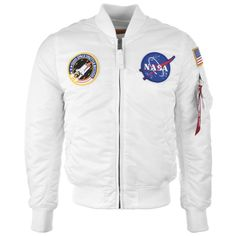Alpha Industries MA 1 VF NASA Flight Jacket White