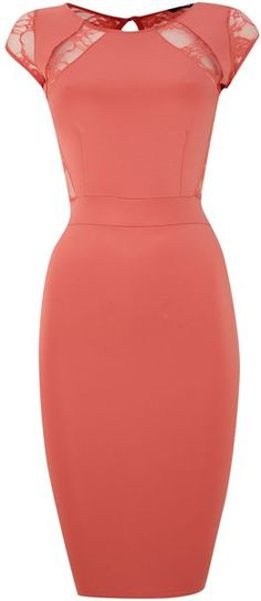 Tfnc Pink Sleeveless Bodycon Dress with Top Detail www.SweetStart.us Weddings@SweetStart.us