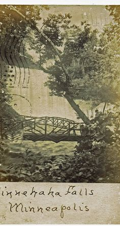 Minnehahna Falls Minneapolis 1907